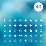 Set of weather icons Stock Images
