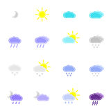 Set with different weather icons Royalty Free Stock Photos