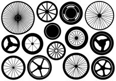 Set Of Different Wheels Royalty Free Stock Photography