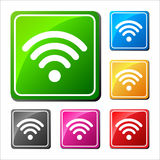 Set of different wifi icons, buttons for design. Vector Illustration Royalty Free Illustration