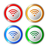 Set of different wifi icons, buttons for design. Vector Illustration Vector Illustration