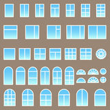 Set of different windows Stock Images