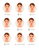 Set of different woman faces. Vector illustration Stock Photos