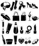 Set of different woman's things Royalty Free Stock Photos