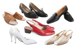 Set of different  womanish shoes Royalty Free Stock Photo