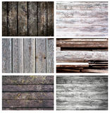 Set of different wooden backgrounds Royalty Free Stock Photography