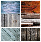 Set of different wooden backgrounds Stock Photography