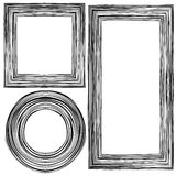 Set of Different Wooden Frames Royalty Free Stock Photos