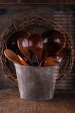 Set of different wooden spoons Stock Photography
