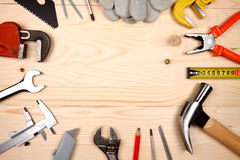 Set of different working tools Stock Photos