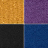 Set of different woven fabric texture. Set of different woven dark fabric texture royalty free stock photography