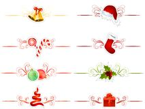 Set of differentChristmas elements Royalty Free Stock Photo