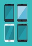 set differents smartphone digital technology Stock Images
