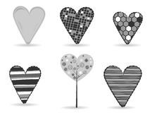 A set of diffrent styles heart shapes Royalty Free Stock Photo