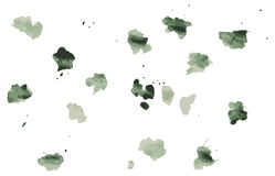 Set of difrent colours blots and ink splashes. Each blot is grouped separately, there are different splashes Vector Illustration