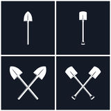 Set of Digging and Pick Up Shovels Royalty Free Stock Photography