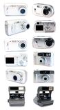 Set Digital And Film Cameras. Stock Photo