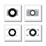 Set of digital camera or point and shoot camera - vector icons Stock Image