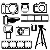 A set of digital cameras Royalty Free Stock Image