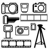 A set of digital cameras Royalty Free Stock Image