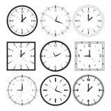 Set of 9 digital clock Stock Images