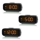 Set of digital clocks with different time Royalty Free Stock Photo