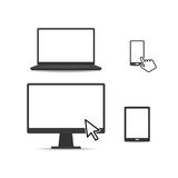 Set of Digital Devices Royalty Free Stock Image