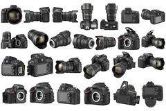 Set Digital DSLR Camera Royalty Free Stock Photos