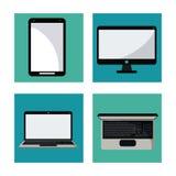 Set digital marketing network media communication. Vector illustration Stock Image