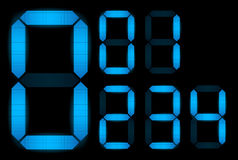 Set of digital numbers Stock Photo