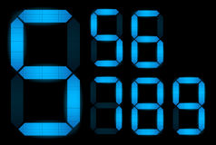Set of digital numbers Stock Photography