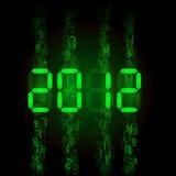 Set of digital numbers - twenty twelve Royalty Free Stock Images