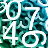 Set of digital numbers. Vector blue background Stock Photos