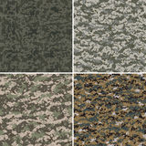 Set of digital seamless camouflage patterns. Stock Image