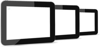 Set of digital tablets with blank screen  Stock Images