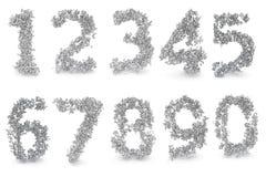 Set Digits gebildet von den Zahlen stock abbildung