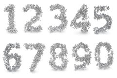 Set of digits made from numbers Stock Images