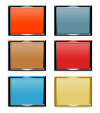 Set of dimensional frames Stock Image