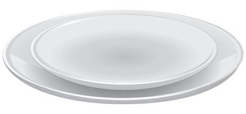 Set of dining plates Royalty Free Stock Photos
