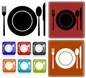 Set of dinner icons Stock Image