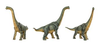 Set Dinosaur long necked sauropod diermibot breed name Brachiosaurus. Dinosaur long necked sauropod diermibot breed name Brachiosaurus. A dinosaur eating plants Stock Photography
