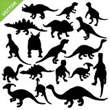 Dinosaur silhouette vector Royalty Free Stock Images