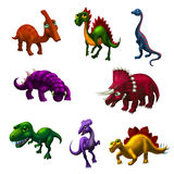 Set of dinosaurs Royalty Free Stock Photo