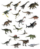 Set of dinosaurs - 3D render vector illustration