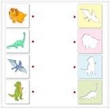 Set of diplodocus, tyrannosaur, pterodactyl and triceratops. Edu Stock Photo