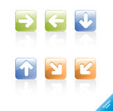 Set of direction web icons. Royalty Free Stock Photography