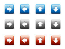 Set of directional arrow icons Royalty Free Stock Images