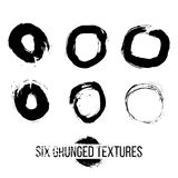 Set of dirty scratched splattered elements Stock Photos