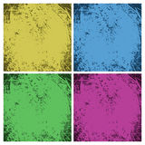 Set of dirty vintage grunge backgrounds. Royalty Free Stock Photos