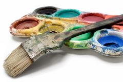 Set of Dirty Watercolors Royalty Free Stock Images